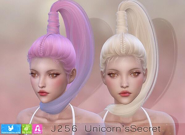 J256 Unicorns Secret Hair sims 4 cc