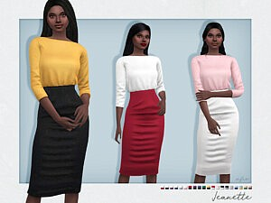 Jeanette Outfit sims 4 cc