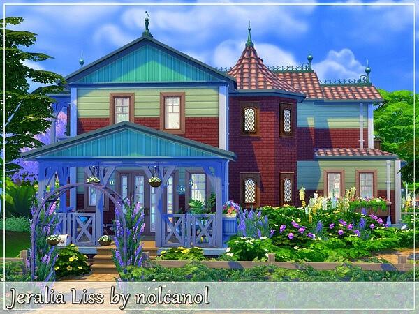 Jeralia Liss House Sims 4 cc