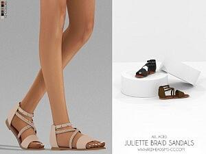 Juliette Braid Sandals sims 4 cc