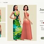 Jungle Dress sims 4 cc