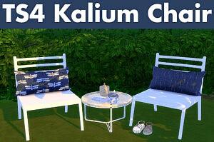 Kalium Chair and Pillows sims 4 cc