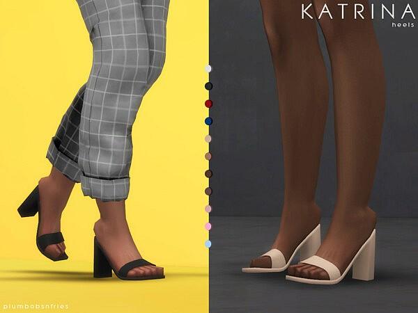 Katrina heels by Plumbobs n Fries from TSR