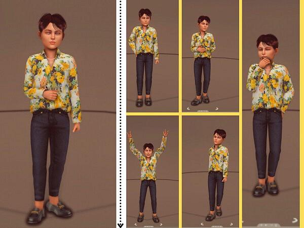 Kid Pose Pack sims 4 cc