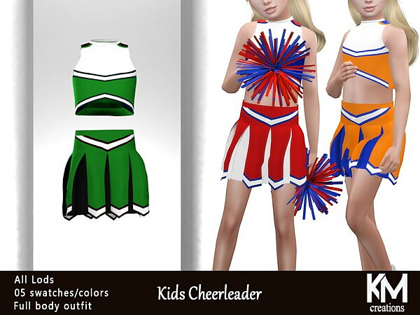 Kids Cheerleader sims 4 cc