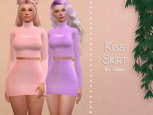 Kiss Skirt sims 4 cc