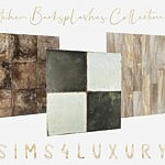 Kitchen Backsplashes Collection 5 sims 4 cc