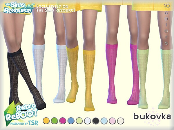 Knee Socks Retro sims 4 cc