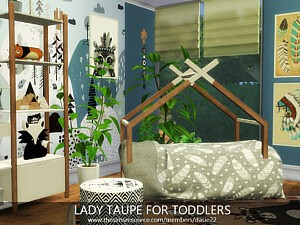 LADY TAUPE FOR TODDLERS sims 4 cc