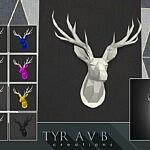 LED backlit Wall Art Origami Deer Head sims 4 cc