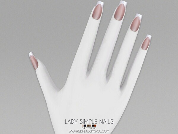 Lady Simple Nails sims 4 cc