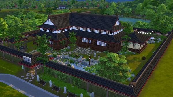 Le Dojo House sims 4 cc