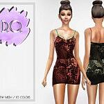Lilac Dress 57 sims 4 cc