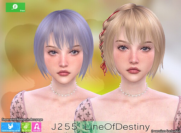 Line Of Destiny Hairstyle sims 4 cc