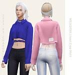 Linen Crop Shirt sims 4 cc