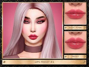 Lips Preset 4 sims 4 cc