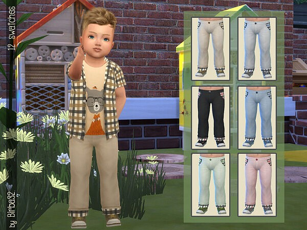 Little Farmer Pants sims 4 cc