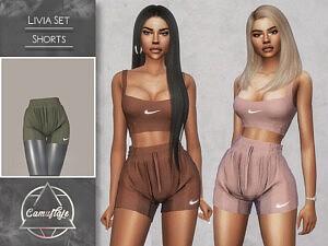 Livia Set Shorts sims 4 cc