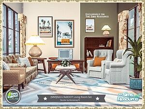 Living Room Set sims 4 cc