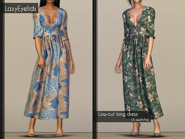 Low Cut Dress sims 4 cc