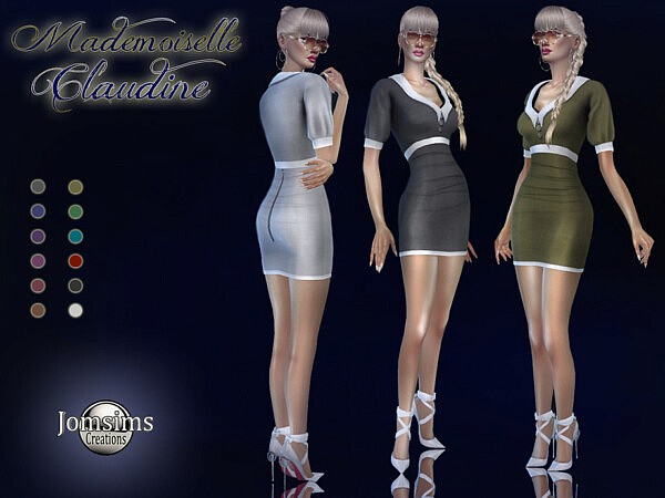 Mademoiselle Claudine dress by jomsims from TSR