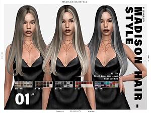 Madison Hair sims 4 cc