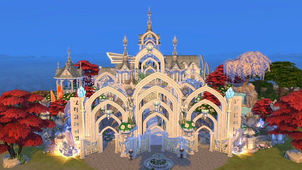 Magical Fairy Castle sims 4 cc