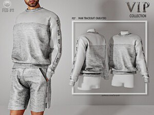 Man Tracksuit Sweater sims 4 cc