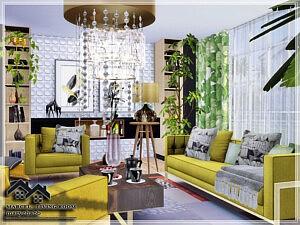 Marcel Living Room sims 4 cc