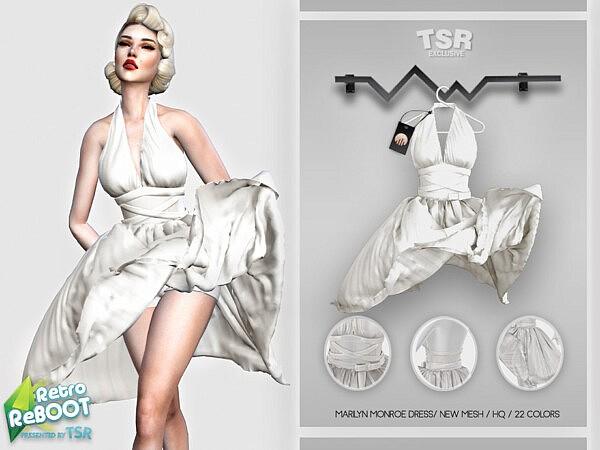 Marilyn Monroe Dress sims 4 cc