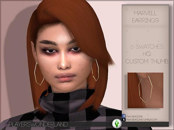 Marvell Earrings sims 4 cc