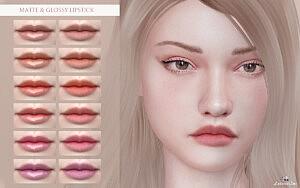 Matte and Glossy Lipstick sims 4 cc