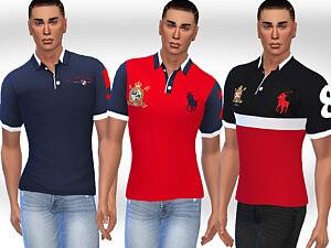 Men Polo Tshirts sims 4 cc