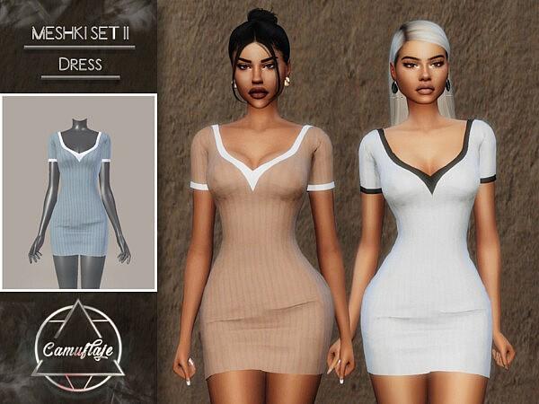 Meshki II Set Dress sims 4 cc