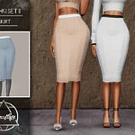 Meshki II Set Skirt sims 4 cc