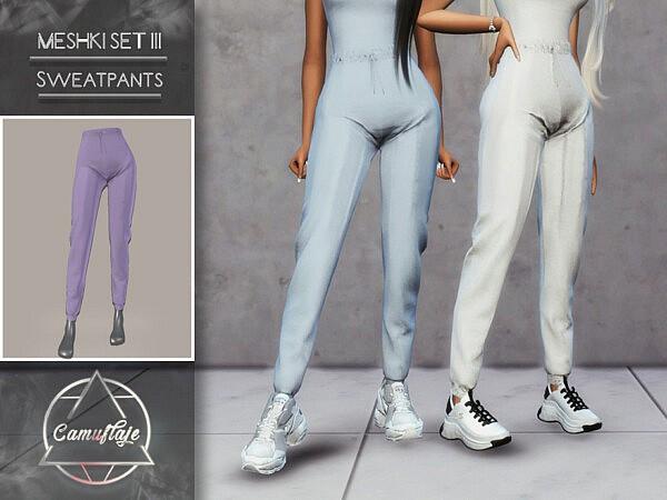 Meshki III Set Sweatpants sims 4 cc