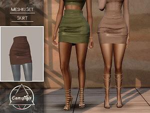 Meski Set Skirt sims 4 cc