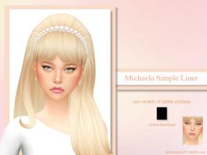 Michaela Simple Liner sims 4 cc