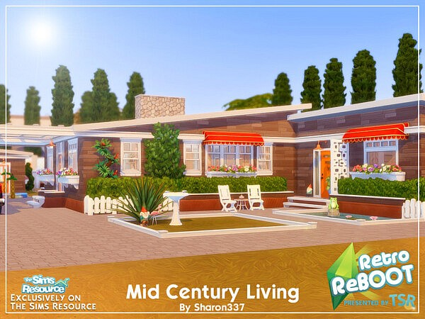Mid Century Living House Nocc sims 4 cc1