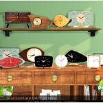 Mid century table clocks sims 4 cc