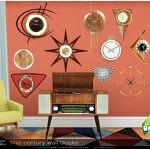 Mid century wall clocks sims 4 cc