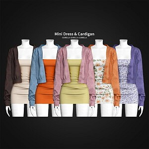 Mini Dress and Cardigan sims 4 cc