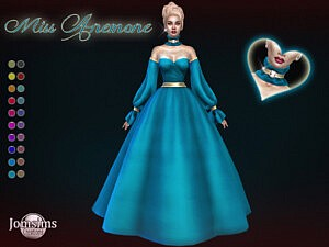 Miss Anemone dress sims 4 cc