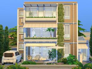 Modern Apartment House sims 4 cc
