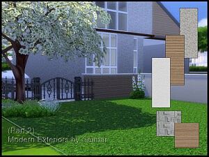 Modern Exteriors part 2 sims 4 cc