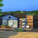 Modern house sims 4 cc