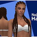 Najlaa Hair Set sims 4 cc