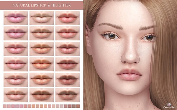 Natural Lipstick and Highlighter