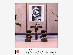 Nemesis dining set sims 4 cc