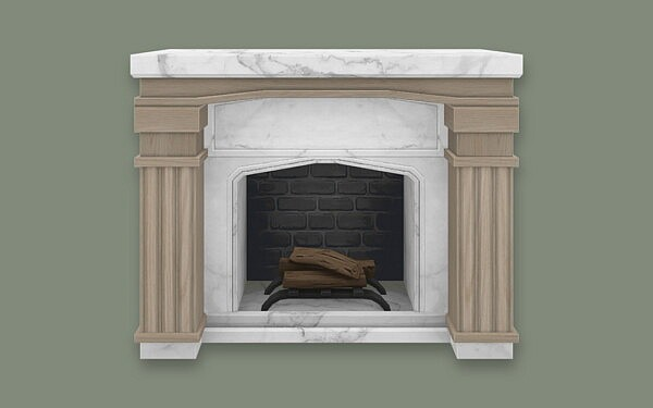 Neo Classical Fireplace sims 4 cc